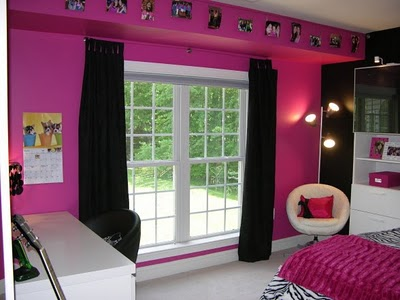 Bedroom on Blogspot Com 2010 01 Hot Pink And Black Zebra Bedroom Html